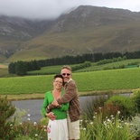 Beautiful couple at Creation Wine farm
