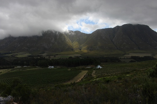 Awesome vistas in the Hermanus wine route area
