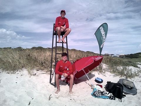 Life guards on duty during school holidays
